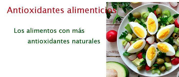 Antioxidantes alimenticios o alimentarios