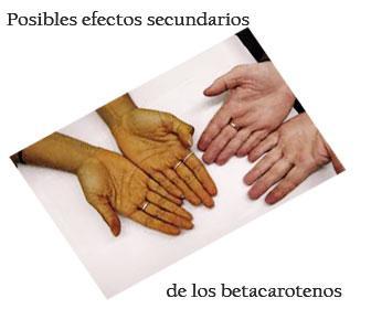 Efectos secundarios de los betacarotenos