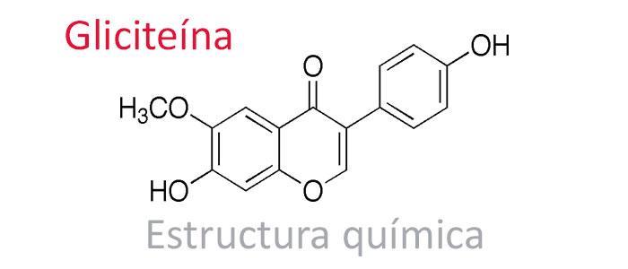 gliciteína estructura química