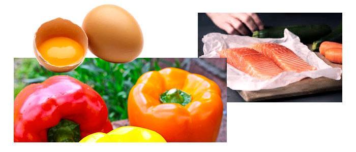 Alimentos ricos en xantofilas